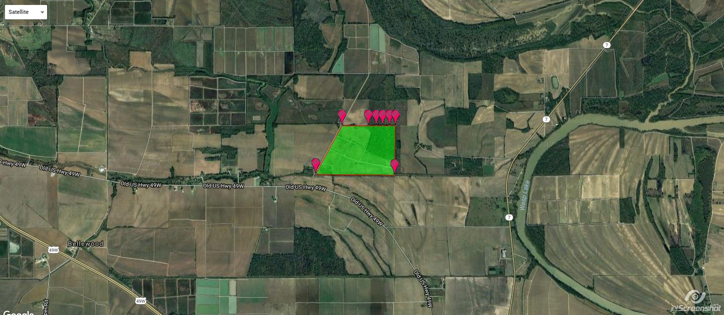 211+/- Acres of Deer and Duck Hunting Land For Sale Bordering Sky Lake WMA in Humphreys County, Ms